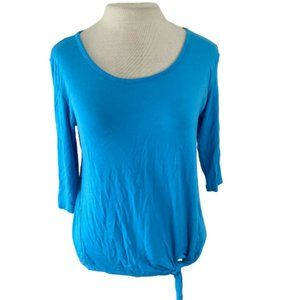 CHA CHA VENTE Bright Blue 3/4 Sleeve Top